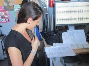 Valentina Cataldo preparando su conexión con Lecce